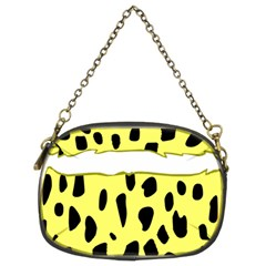 Leopard Polka Dot Yellow Black Chain Purses (two Sides)  by Mariart