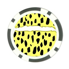 Leopard Polka Dot Yellow Black Poker Chip Card Guard (10 Pack) by Mariart