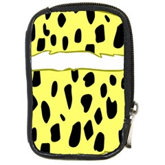 Leopard Polka Dot Yellow Black Compact Camera Cases by Mariart
