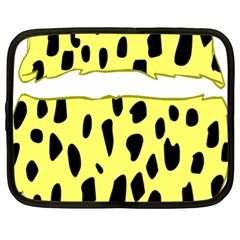 Leopard Polka Dot Yellow Black Netbook Case (xl)  by Mariart