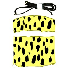 Leopard Polka Dot Yellow Black Shoulder Sling Bags by Mariart
