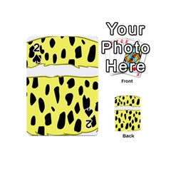Leopard Polka Dot Yellow Black Playing Cards 54 (mini)  by Mariart