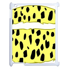 Leopard Polka Dot Yellow Black Apple Ipad 2 Case (white) by Mariart