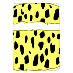 Leopard Polka Dot Yellow Black Flap Covers (l)  by Mariart