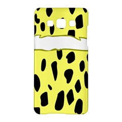 Leopard Polka Dot Yellow Black Samsung Galaxy A5 Hardshell Case  by Mariart