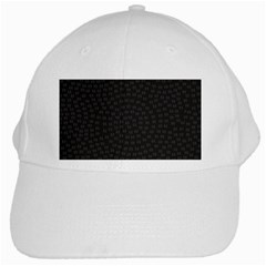 Oklahoma Circle Black Glitter Effect White Cap by Mariart