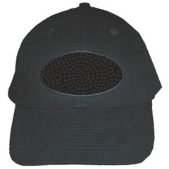 Oklahoma Circle Black Glitter Effect Black Cap by Mariart