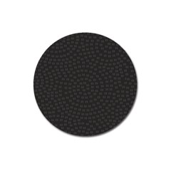 Oklahoma Circle Black Glitter Effect Magnet 3  (round) by Mariart