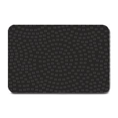 Oklahoma Circle Black Glitter Effect Plate Mats by Mariart