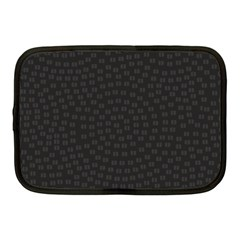 Oklahoma Circle Black Glitter Effect Netbook Case (medium)  by Mariart