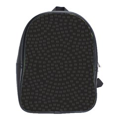 Oklahoma Circle Black Glitter Effect School Bags(large)