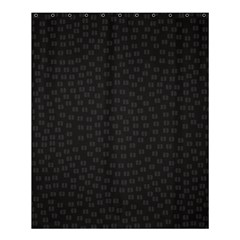 Oklahoma Circle Black Glitter Effect Shower Curtain 60  X 72  (medium)  by Mariart