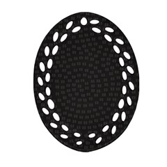 Oklahoma Circle Black Glitter Effect Ornament (oval Filigree) by Mariart