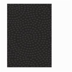 Oklahoma Circle Black Glitter Effect Large Garden Flag (two Sides) by Mariart