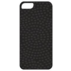 Oklahoma Circle Black Glitter Effect Apple Iphone 5 Classic Hardshell Case by Mariart