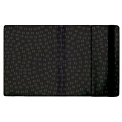 Oklahoma Circle Black Glitter Effect Apple Ipad 2 Flip Case by Mariart