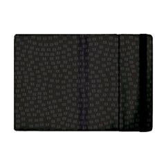Oklahoma Circle Black Glitter Effect Apple Ipad Mini Flip Case by Mariart