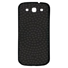 Oklahoma Circle Black Glitter Effect Samsung Galaxy S3 S Iii Classic Hardshell Back Case by Mariart