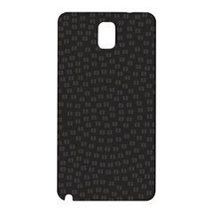 Oklahoma Circle Black Glitter Effect Samsung Galaxy Note 3 N9005 Hardshell Back Case by Mariart