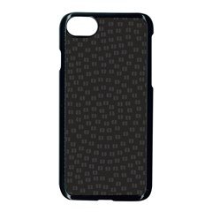Oklahoma Circle Black Glitter Effect Apple Iphone 7 Seamless Case (black) by Mariart