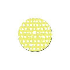 Polkadot White Yellow Golf Ball Marker (4 Pack) by Mariart