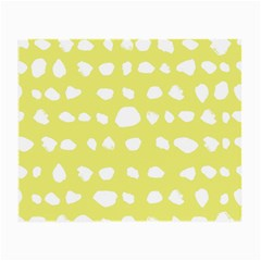 Polkadot White Yellow Small Glasses Cloth by Mariart