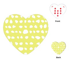 Polkadot White Yellow Playing Cards (heart)