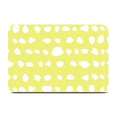 Polkadot White Yellow Plate Mats by Mariart