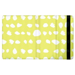 Polkadot White Yellow Apple Ipad 3/4 Flip Case by Mariart