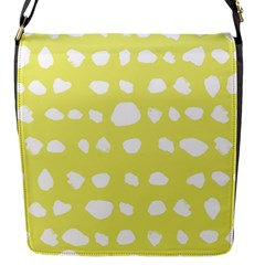Polkadot White Yellow Flap Messenger Bag (s) by Mariart