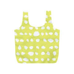 Polkadot White Yellow Full Print Recycle Bags (s)  by Mariart