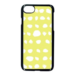 Polkadot White Yellow Apple Iphone 7 Seamless Case (black) by Mariart