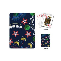 Origami Flower Floral Star Leaf Playing Cards (mini)  by Mariart