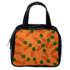 Carrot Pattern Classic Handbags (one Side) by Valentinaart