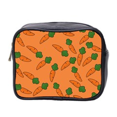 Carrot Pattern Mini Toiletries Bag 2 Side by Valentinaart