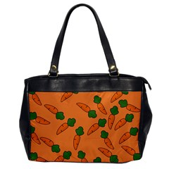 Carrot Pattern Office Handbags by Valentinaart