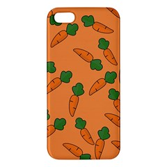 Carrot Pattern Iphone 5s/ Se Premium Hardshell Case by Valentinaart