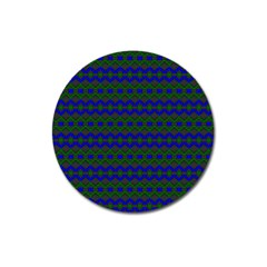 Split Diamond Blue Green Woven Fabric Magnet 3  (round) by Mariart