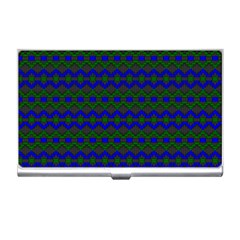 Split Diamond Blue Green Woven Fabric Business Card Holders by Mariart
