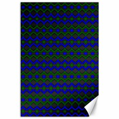 Split Diamond Blue Green Woven Fabric Canvas 12  X 18   by Mariart
