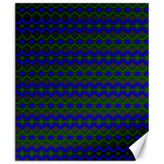 Split Diamond Blue Green Woven Fabric Canvas 20  X 24   by Mariart