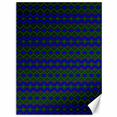 Split Diamond Blue Green Woven Fabric Canvas 36  X 48   by Mariart