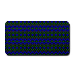 Split Diamond Blue Green Woven Fabric Medium Bar Mats by Mariart