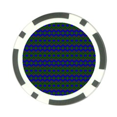 Split Diamond Blue Green Woven Fabric Poker Chip Card Guard by Mariart