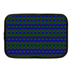Split Diamond Blue Green Woven Fabric Netbook Case (medium)  by Mariart