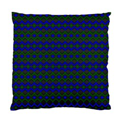 Split Diamond Blue Green Woven Fabric Standard Cushion Case (two Sides) by Mariart