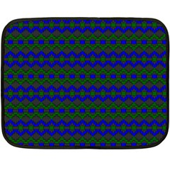 Split Diamond Blue Green Woven Fabric Double Sided Fleece Blanket (mini)  by Mariart