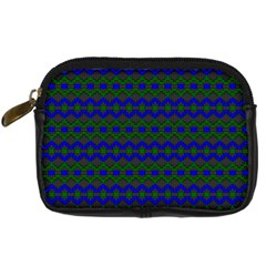 Split Diamond Blue Green Woven Fabric Digital Camera Cases by Mariart