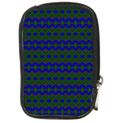 Split Diamond Blue Green Woven Fabric Compact Camera Cases by Mariart