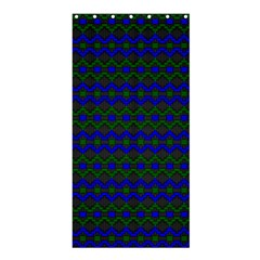 Split Diamond Blue Green Woven Fabric Shower Curtain 36  X 72  (stall)  by Mariart